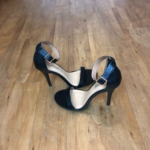 "Anne Michelle 4 1/2 "" open toe high heels"